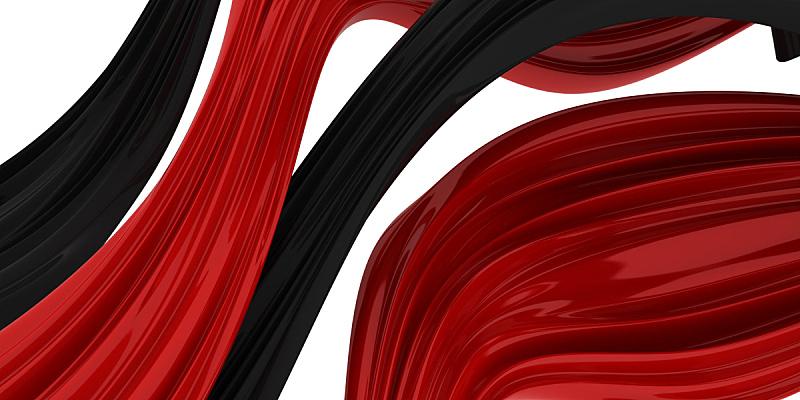 波浪,塑胶,三维图形,水,水平画幅,无人,全景,抽象,纤维,户外