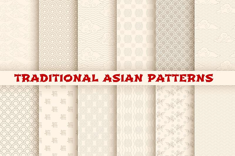 式样,矢量,传统,朝鲜半岛,青海波,花窗格,亚洲,日本食品,四方连续纹样,波形