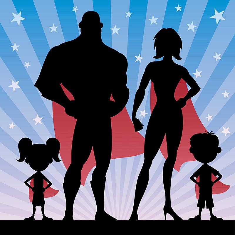 家庭,斗篷,漫画书,卡通,青少年,绘画插图,古典式,魟,男性,想法