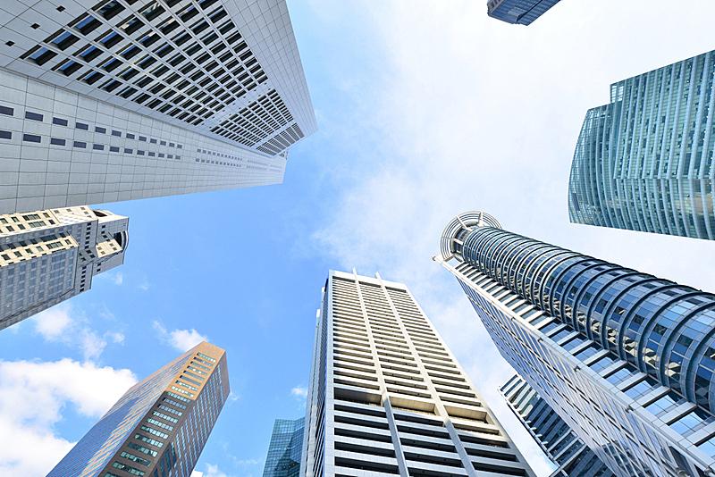 新加坡,cbd,航空器拍摄视角,天空,未来,高视角,顶部,都市风景,现代,镜头眩光