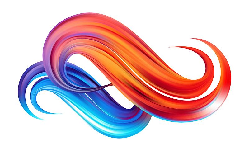 矢量,形状,式样,色彩鲜艳,液体,波形,丙稀画,笔触,石油工业