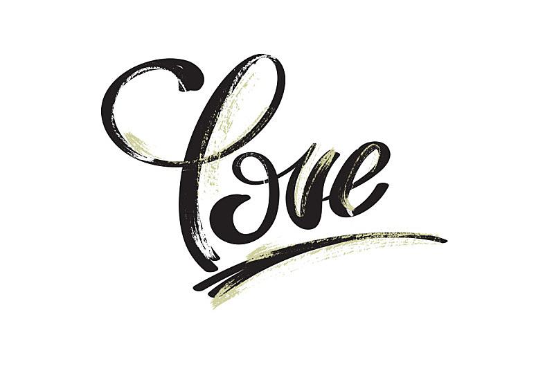 "hand drawing word ""love"""