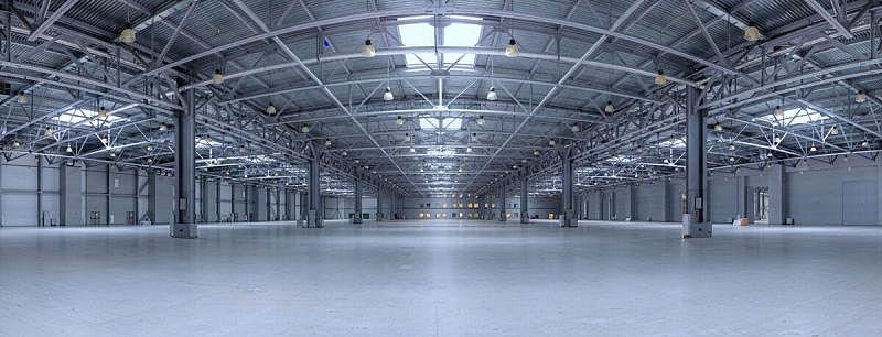 仓库,极简构图,水平画幅,无人,巨大的,透视图,工厂,飞机库,金属,图像