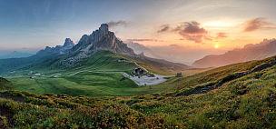 山,多洛米蒂山脉,阿尔卑斯山脉,自然,全景,意大利,水平画幅,无人,早晨,夏天