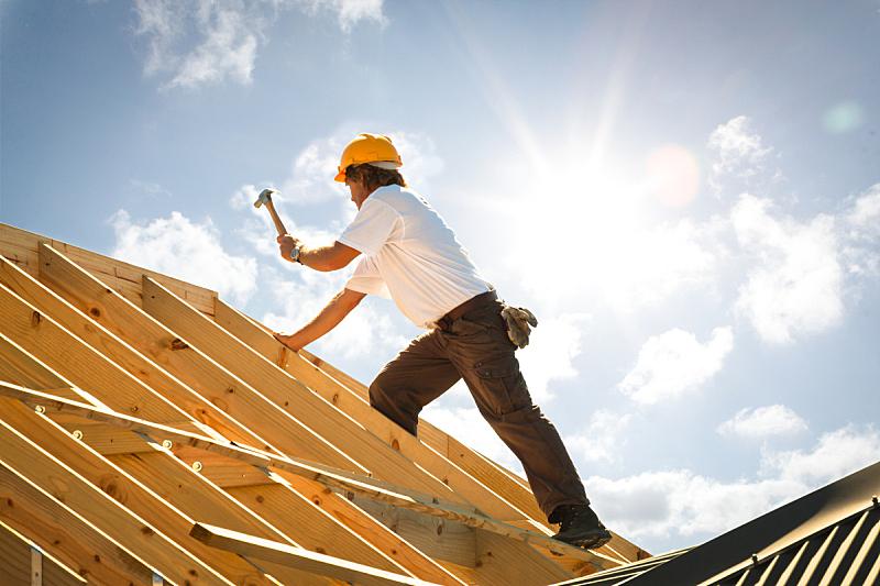 屋面工,木工,屋顶,锤子,建筑业,建筑工地,建筑结构,建筑外部,房屋,职业