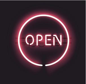 营业标志,霓虹灯,霓虹色,进口标志,字体,照明设备,电缆,装管,易接近性