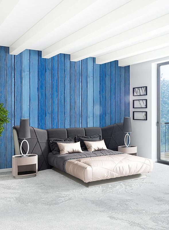 绘画插图,银色,卧室,白色,室内设计师,沙发,极简构图,木制,三维图形