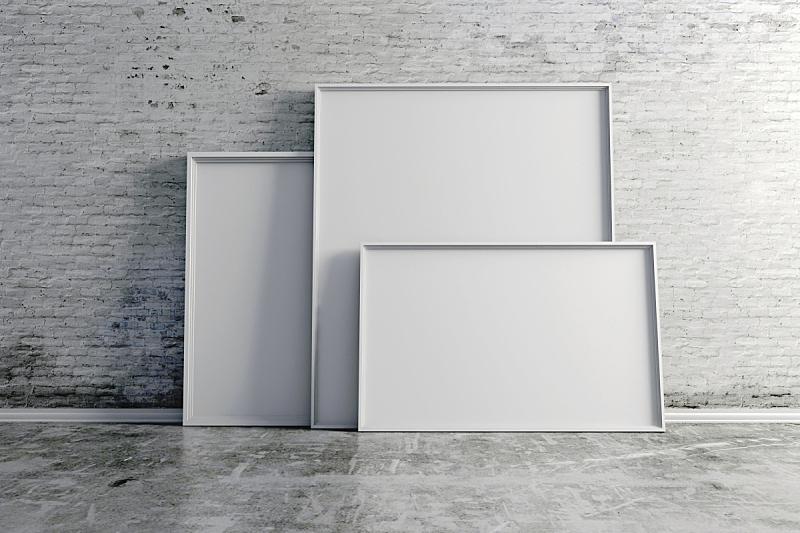 白色,三维图形,空白的,枉费心机,边框,留白,水平画幅,形状,无人,绘画插图