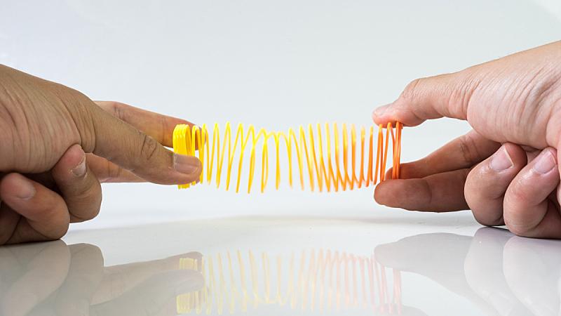 螺线,弹性,弹簧,手牵手,空的,背景,圆形,水平画幅,塑胶,特写