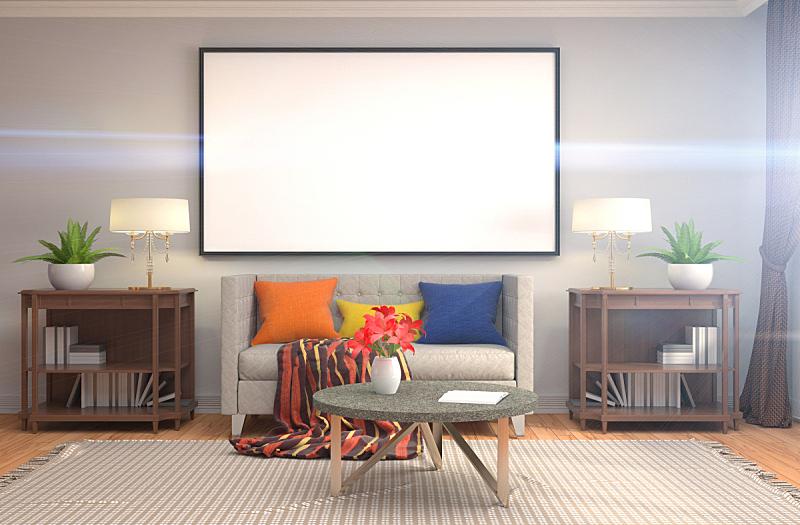 室内,三维图形,轻蔑的,绘画插图,正下方视角,背景,边框,投影屏幕,褐色