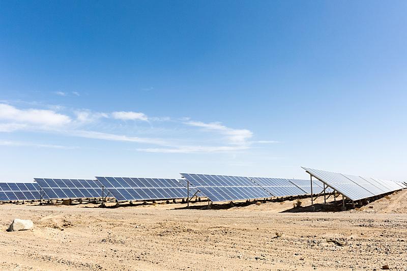 戈壁滩,太阳能,青海省,金砖四国,可持续资源,天空,太阳能电池板,新的,水平画幅,能源