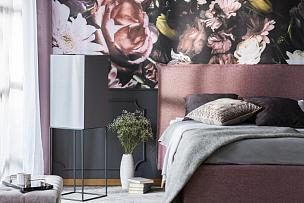 灰色,床,书,粉色,室内,枕头,式样,卧室,花,摄影