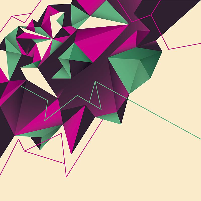 几何形状,背景,抽象,彩色图片,计划书,技术,现代,绘画插图,小册子,布告栏