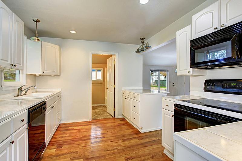 无人,室内,厨房,极简构图,房屋,过时的,白色,窗户,住宅房间,水平画幅