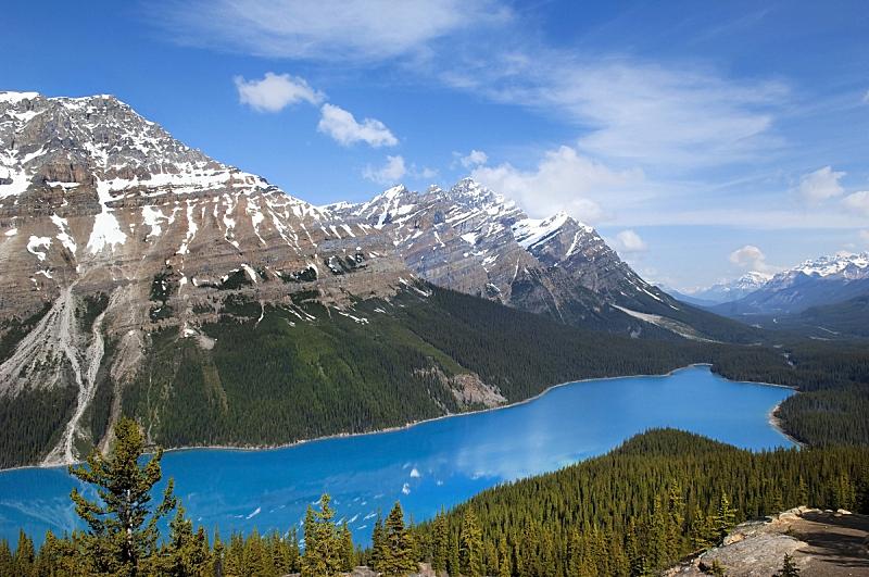 翡翠湖,班夫,水,天空,水平画幅,阿尔伯塔省,无人,湿,夏天,户外