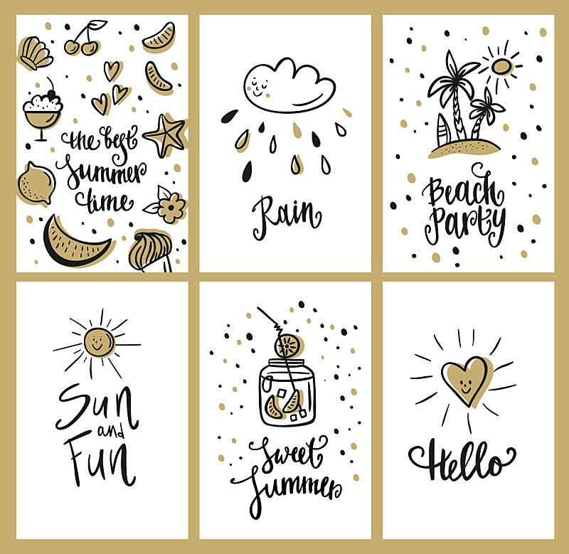 夏天,沙滩派对,华丽的,请柬,一个物体,热带气候,果汁,水果,草图