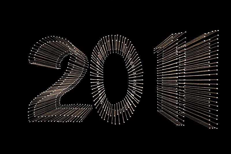 新年前夕,2011,节日,黑色,成一排,运动模糊,黑色背景,图像特效,庆祝,行动