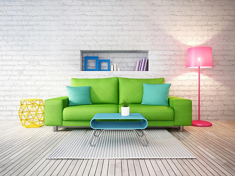 室内,三维图形,绘画插图,住宅房间,水平画幅,建筑,无人,装饰物,灯,家具