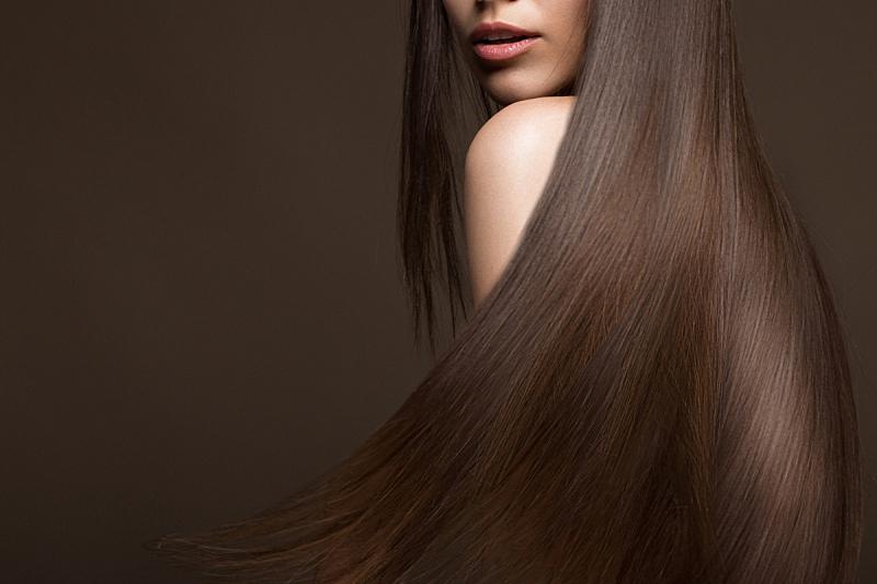 头发,平滑的,女孩,棕色头发,自然美,美,彩妆,水平画幅,美人,化妆用品