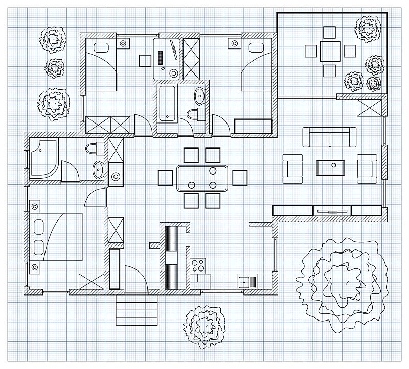 毫米,计划书,房屋,草图,纸,黑白图片,卫生纸,地板,浴室,图表