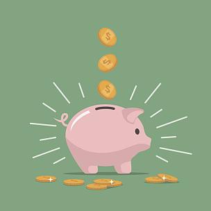 小猪扑满,未来,粉色,救球,猪,存钱罐,慈善捐赠,银行保管箱,储蓄,银行
