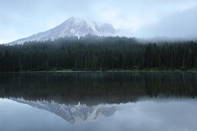 雷尼尔雪山,雨山国家公园,皮尔斯县,自然,水,天空,宁静,美国,国家公园,水平画幅