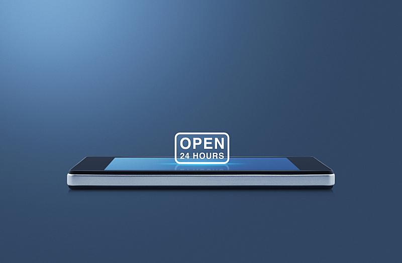 商务,充满的,时间,概念,电子邮件,触摸屏,空的,数字23,现代,设备屏幕