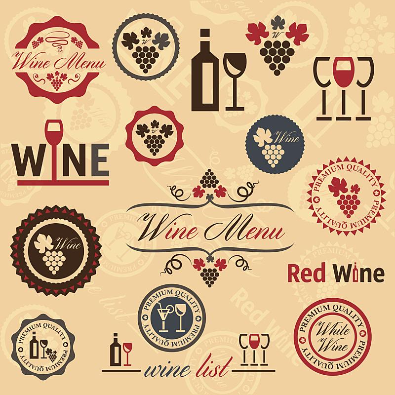 标签,酒瓶,葡萄酒,瓶塞钻,绘画插图,古典式,含酒精饮料,商店,饮料,瓶子