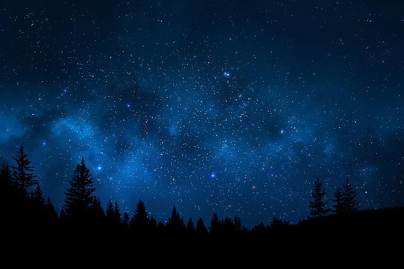夜晚,天空,地形,仙后座,星星,空间和天文学,银河系,星云,星座,天文学