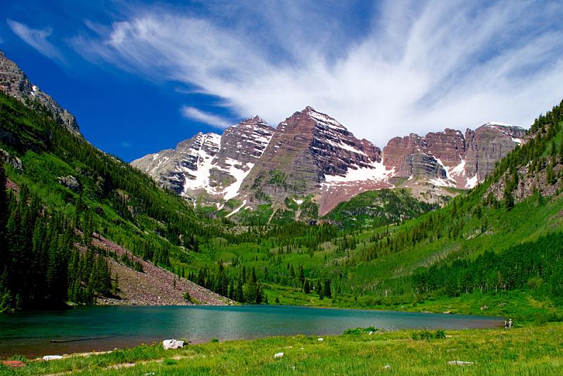 玛尔露恩贝尔峰,白昼,可爱的,阿斯彭,旅游目的地,水平画幅,地形,岩石,人,路人