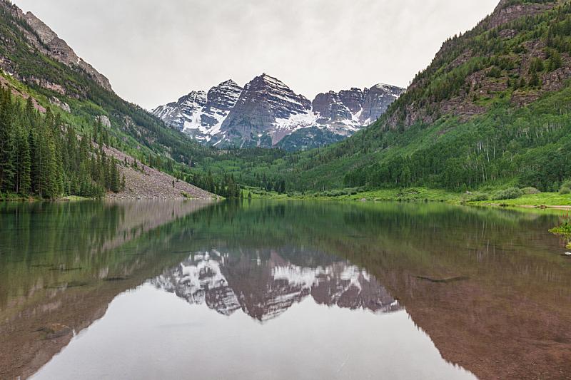 玛尔露恩贝尔峰,夏天,阿斯彭,科罗拉多州,自然,水平画幅,地形,无人,户外,湖