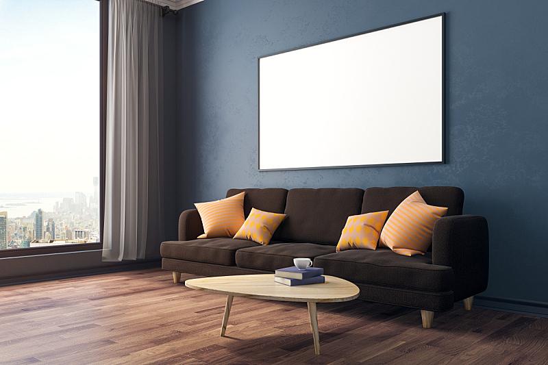 现代,住宅房间,侧面视角,留白,边框,水平画幅,无人,绘画插图,家庭生活