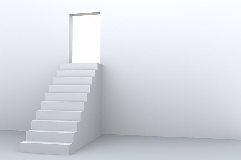 楼梯,白色,概念,绝对无尘室,台阶,留白,灵感,门口,水平画幅,形状
