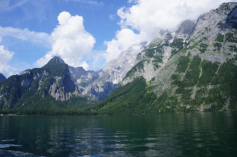 德国,波切斯盖登国家公园,自然,天空,水平画幅,绿色,地形,山,雪,无人