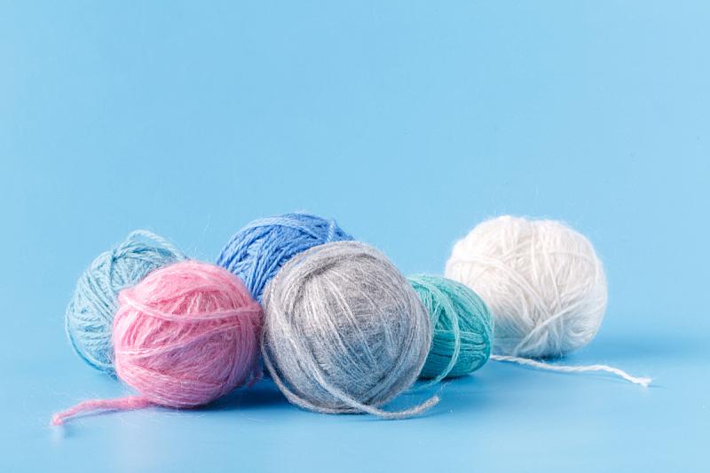 球,蓝色,羊毛,粉色,式样,水平画幅,无人,手艺,羊毛线球,时尚