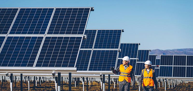 太阳能发电站,太阳能电池板,新的,水平画幅,活力,俄罗斯,现代,建筑业,工业,植物