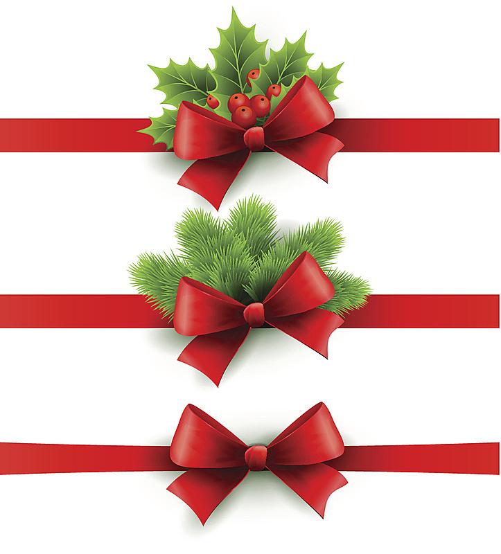 冬青树,蝴蝶结,缎带,红色,松树,节日,射箭弓,奖丝带,圣诞装饰物,赛尔