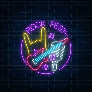 音乐节,计算机图标,麦克风,边框,霓虹灯,音乐,标志,圆形,户外,做手势