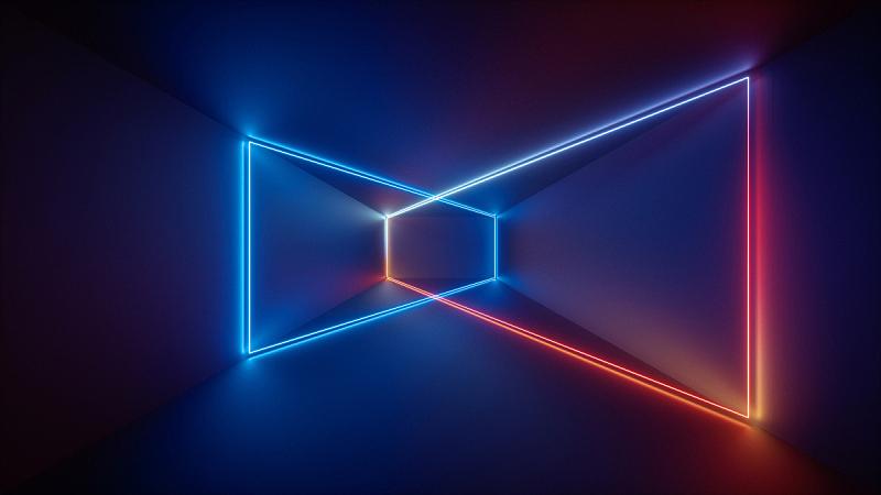 荧光灯,成一排,背景,走廊,抽象,室内,夜总会,激光,照亮,表演