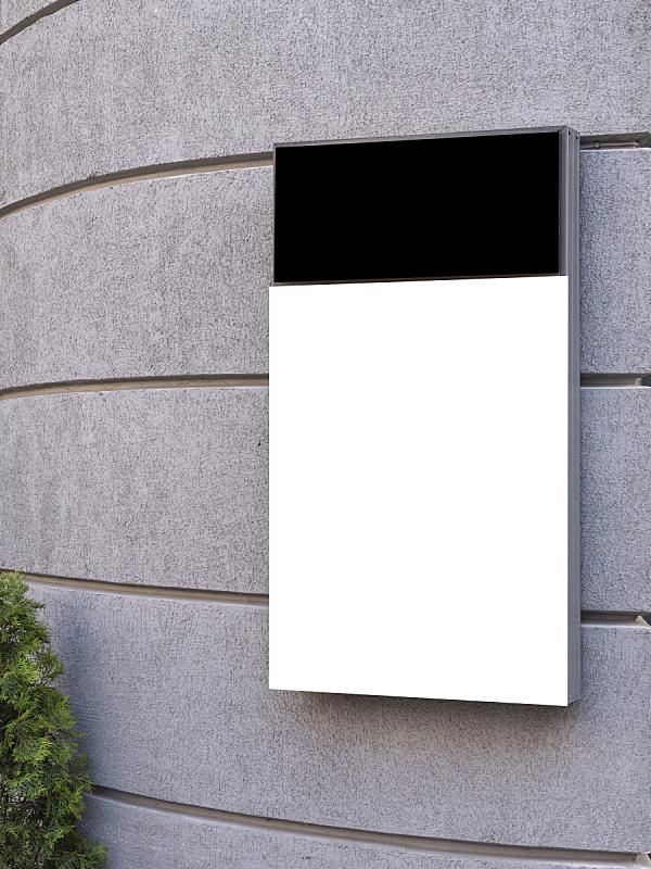 户外,空白的,布告栏,信息标志,轻蔑的,正下方视角,传媒,边框,复古风格
