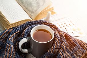 温度计,机织织物,书,围巾,轻的,药丸,茶杯,替代疗法,辅导讲座,温度