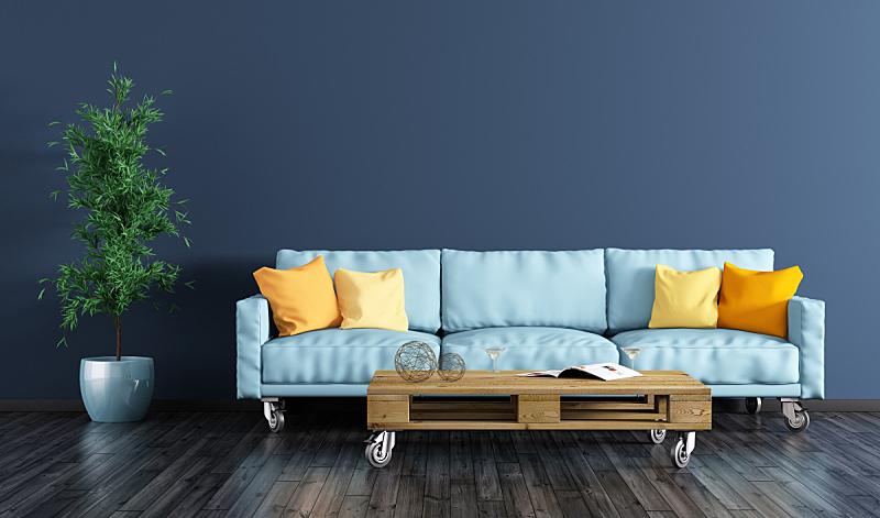 沙发,起居室,室内,三维图形,货盘,茶几,多色的,住宅内部,公寓,橙色