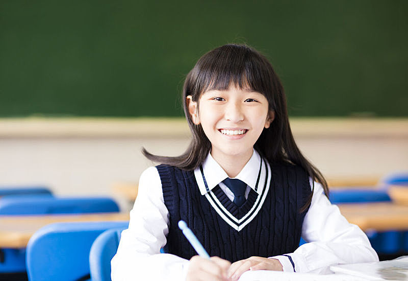 书,教室,幸福,可爱的,学生,女孩,美,青少年,水平画幅,智慧