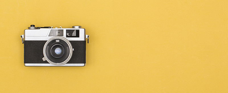 相机,40-80年代风格复兴,过去,1990年-1999年,摄影师,拍摄场景,1970年-1979年,黄色背景,彩色背景,网站横幅