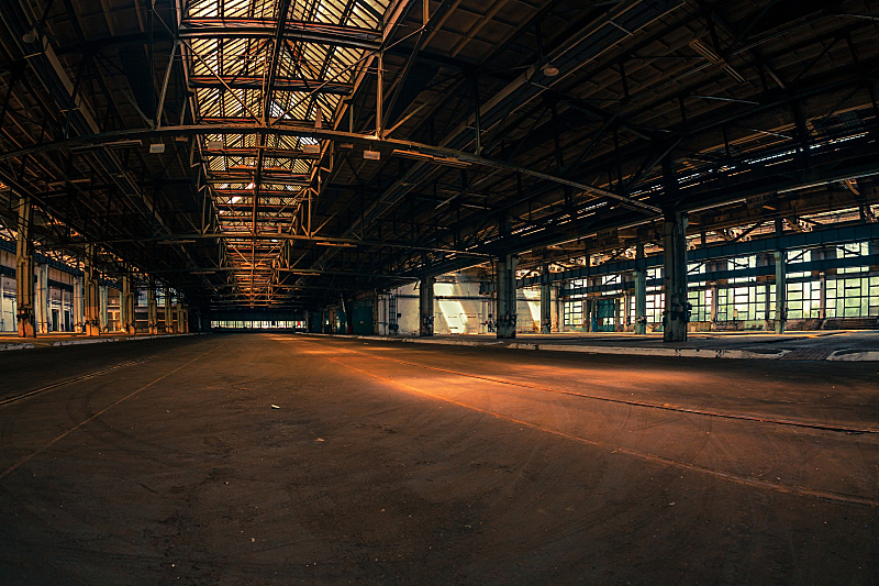 工业,黑色,室内,飞机库,汽车修理间,被抛弃的,车库,仓库,暗色,门口