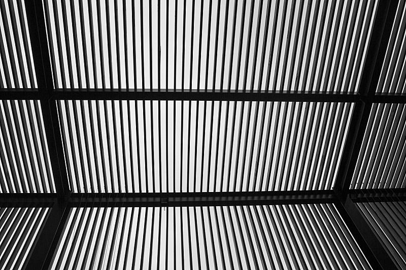 现代,建筑,抽象,未来,错觉,金属,建筑业,白色,高处,光