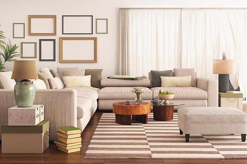 起居室,现代,千禧年,茶几,花瓶,镶花地板,窗帘,毯子,枕头
