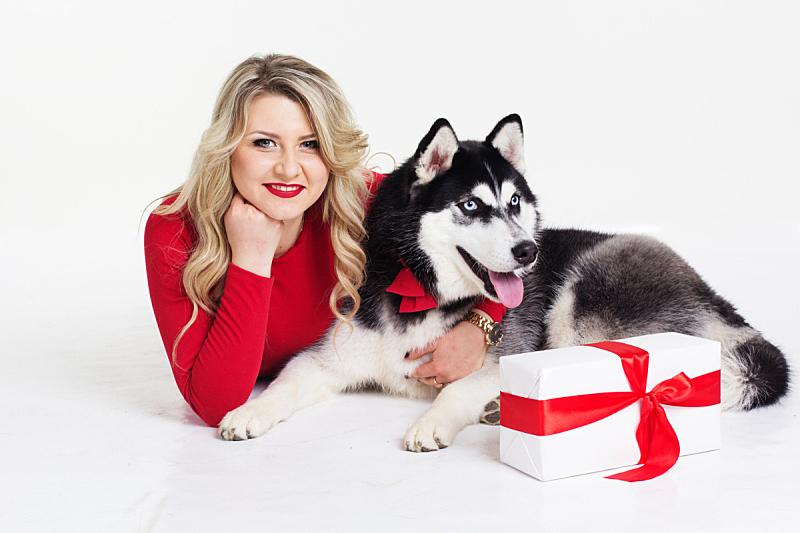 雪橇犬,连衣裙,礼物,女孩,衣服,彩妆,生日,仅成年人,头发,哺乳纲