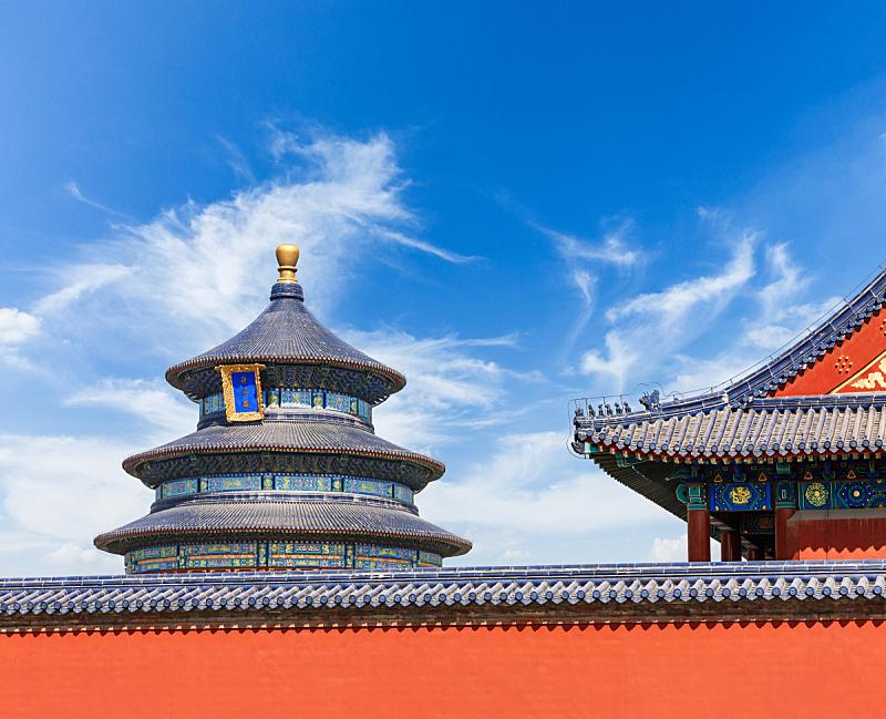 天坛,北京,过去,风景,中国,寺庙,屋檐,亭台楼阁,纪念碑,天空