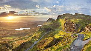 斯凯岛,苏格兰,基瑞陵,奎朗峰,苏格兰高地,外赫布里底群岛,风景,山脉,英国,岛